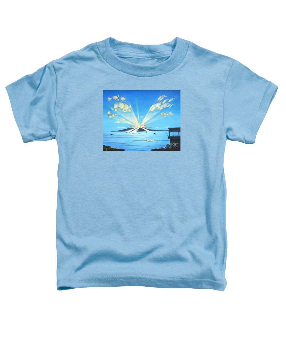 Maui Toddler T-Shirt featuring the painting Maui Magic by Jerome Stumphauzer