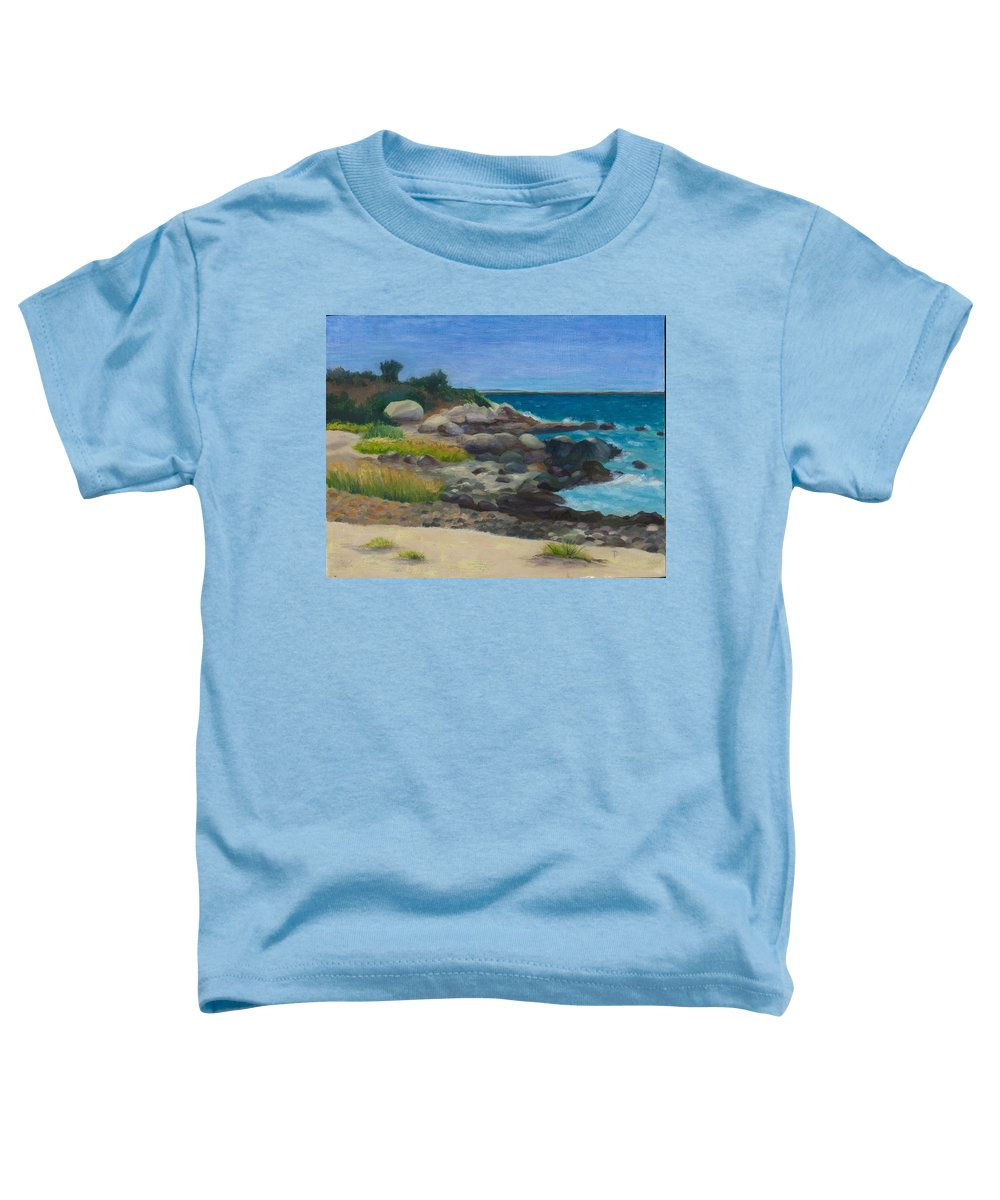 Landscape Toddler T-Shirt featuring the painting Meigs Point by Paula Emery