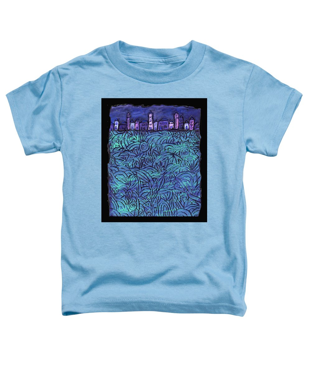 Night Toddler T-Shirt featuring the painting Midnight by Wayne Potrafka