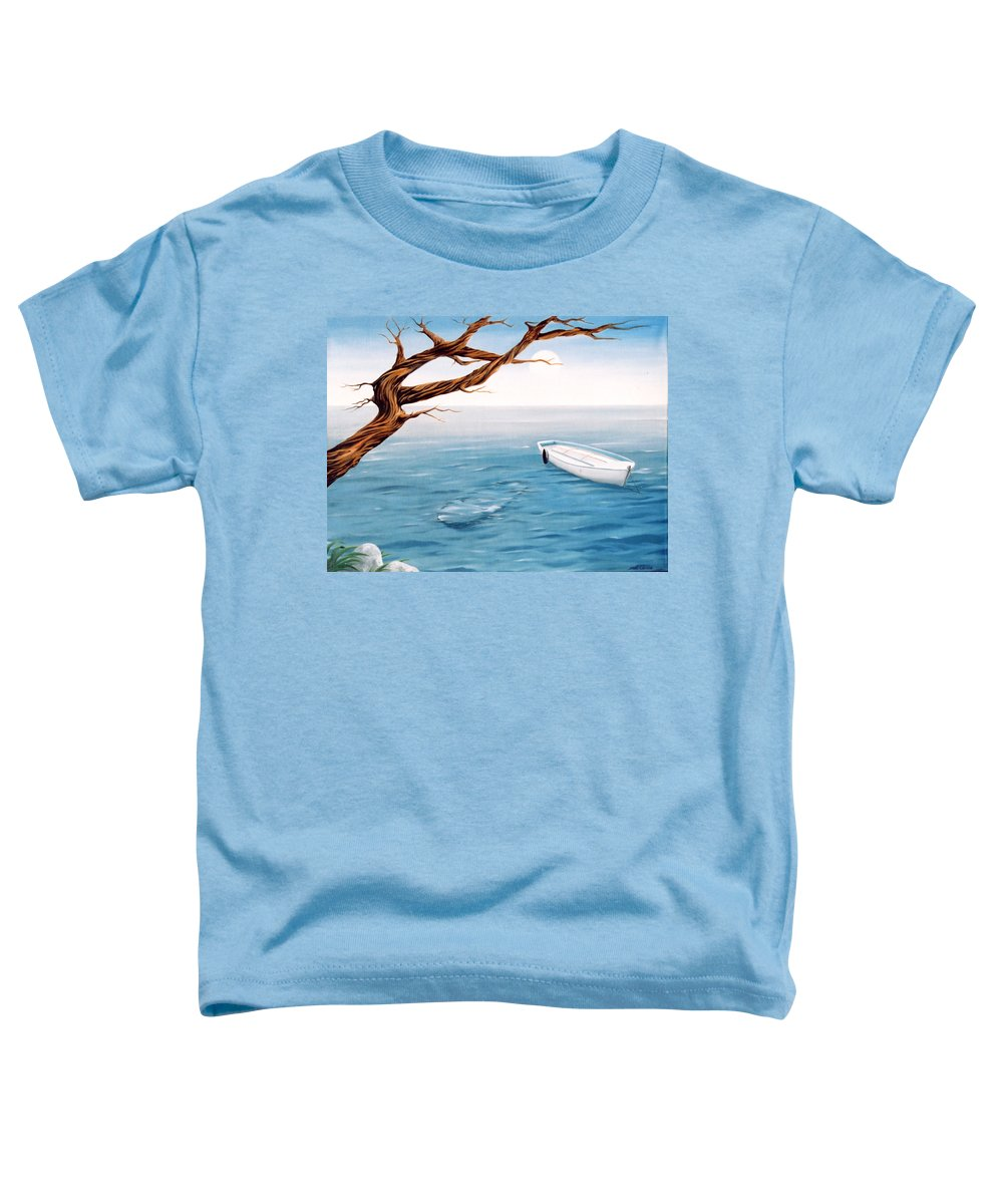 Seascape Prints Toddler T-Shirt featuring the painting Mourning Spring by Mark Cawood