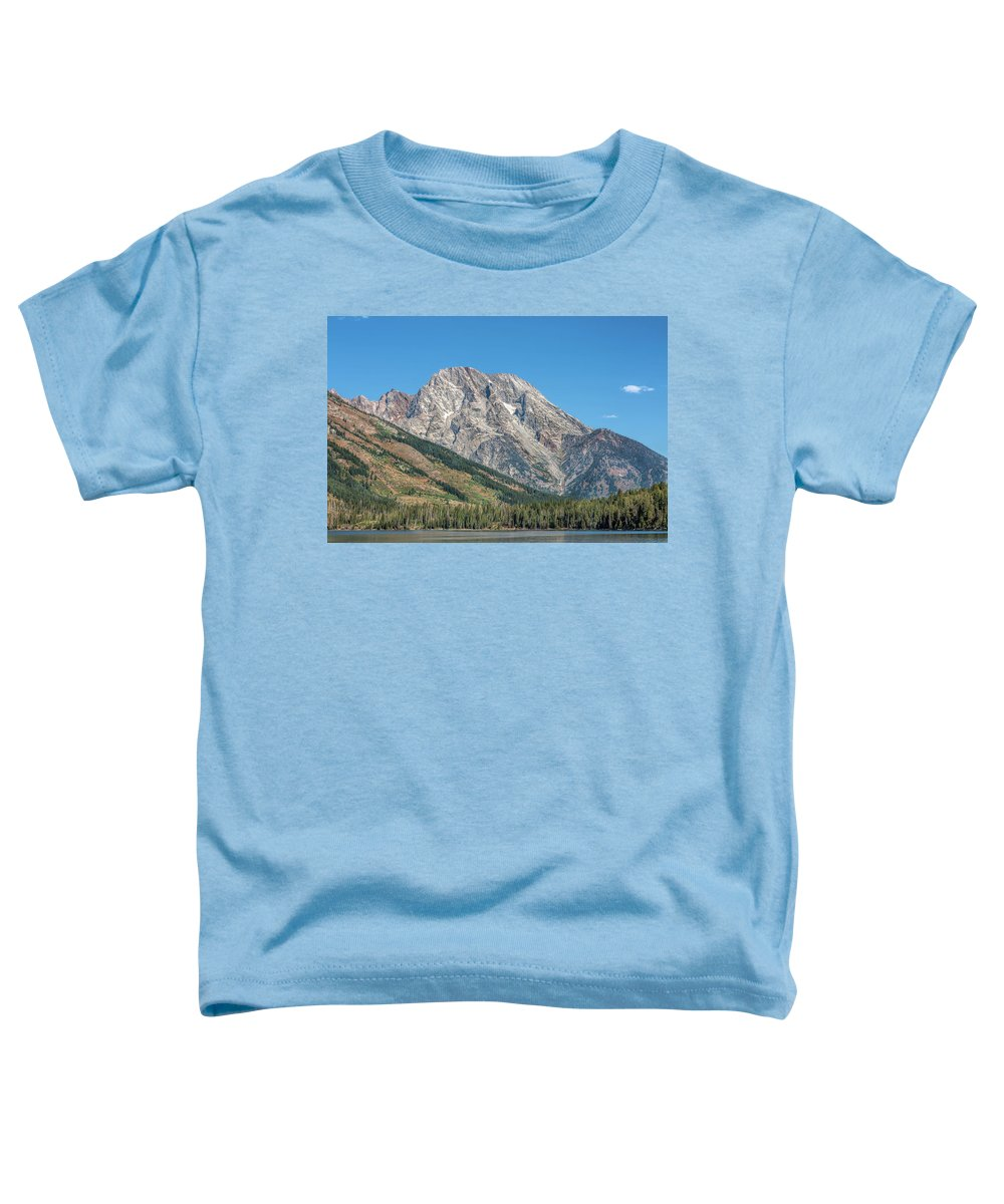 America Toddler T-Shirt featuring the photograph Mt Moran At The Grand Tetons by John M Bailey