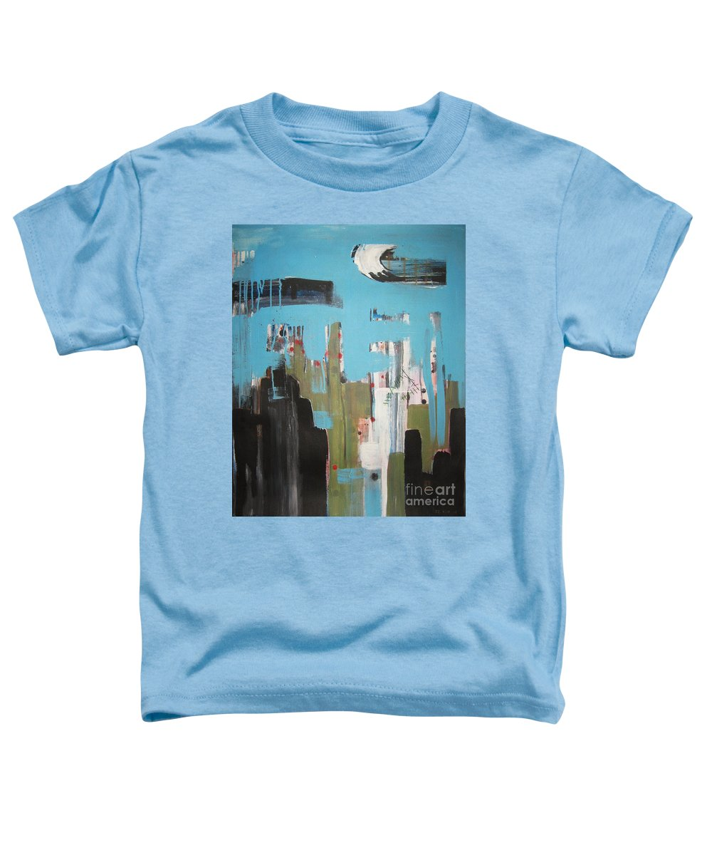 Abstract Paintings Toddler T-Shirt featuring the painting Neglected Area by Seon-Jeong Kim