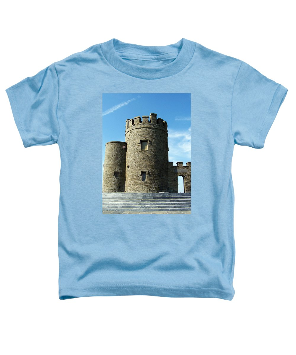 Irish Toddler T-Shirt featuring the photograph O Brien's Tower Cliffs Of Moher Ireland by Teresa Mucha