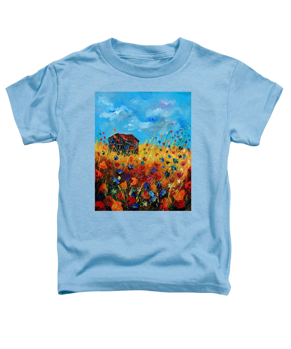 Poppies Toddler T-Shirt featuring the painting Old Barn by Pol Ledent