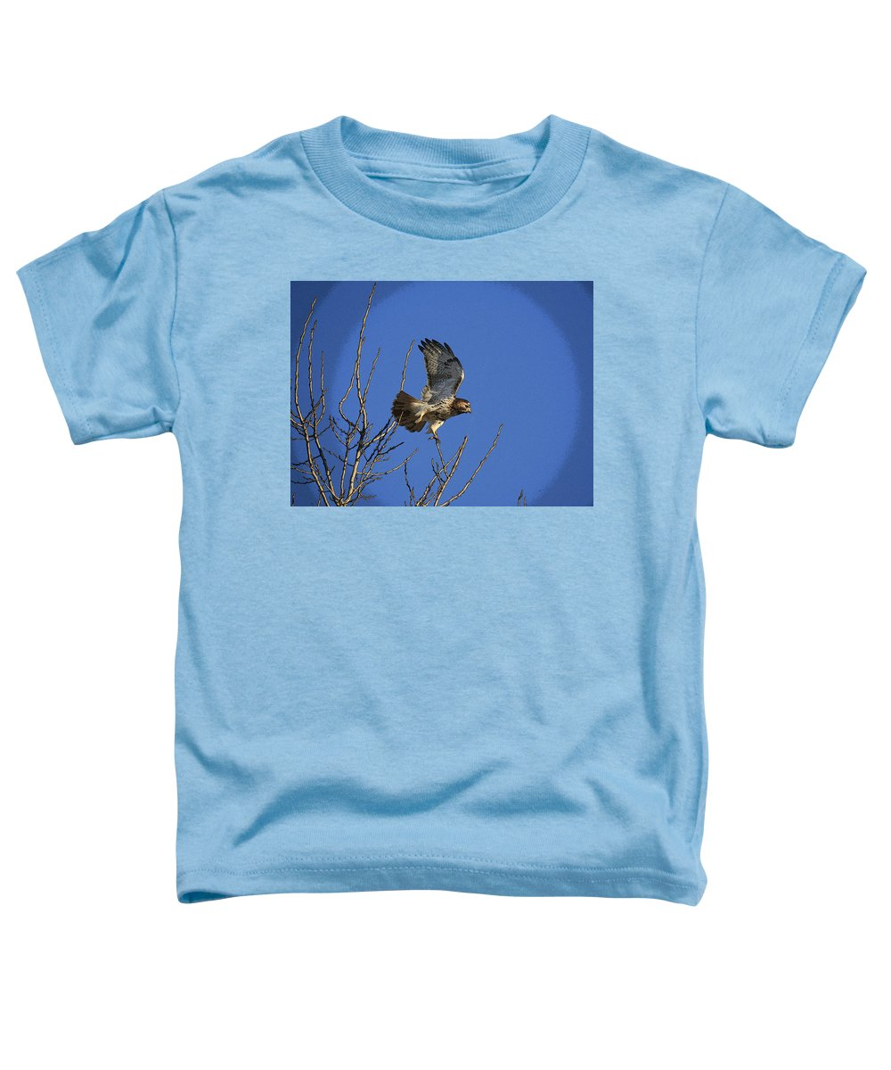 Hawk Toddler T-Shirt featuring the photograph On The Move by Robert Pearson