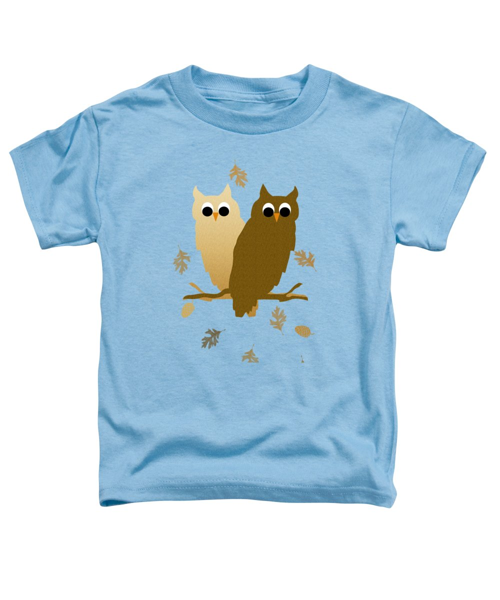 Owl Toddler T-Shirt featuring the mixed media Owls Pattern Art by Christina Rollo