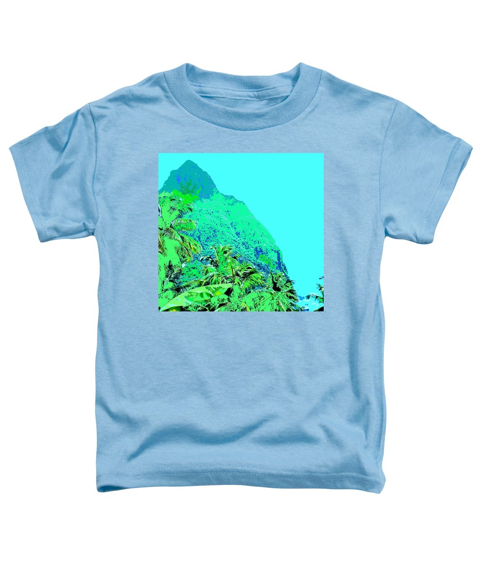 Pitons Toddler T-Shirt featuring the photograph Pitons by Ian MacDonald