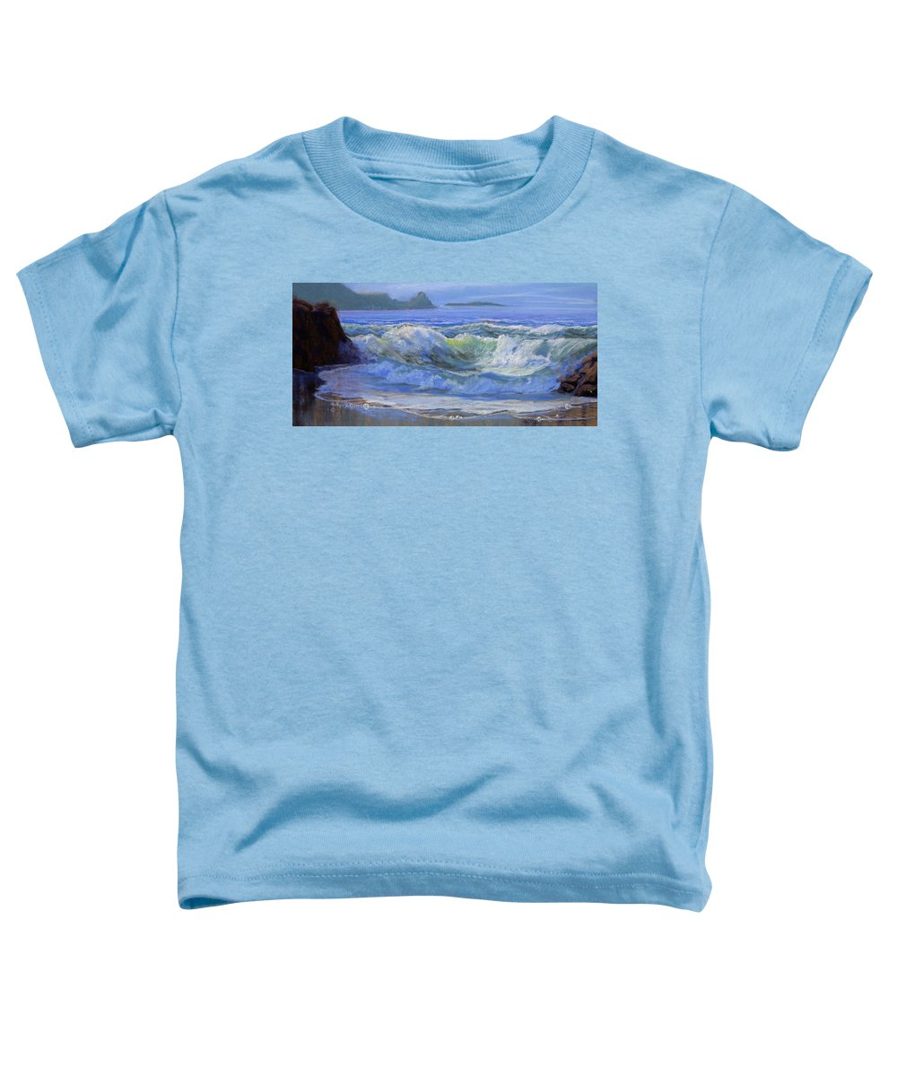 Seascape Toddler T-Shirt featuring the painting Point Reyes by Heather Coen