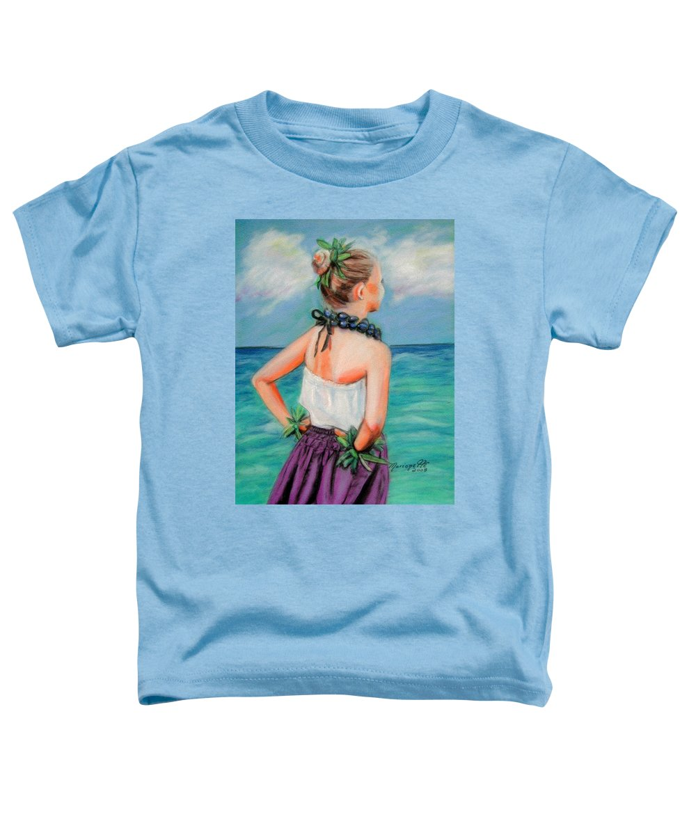 Hula Dance Toddler T-Shirt featuring the painting Poipu Hula by Marionette Taboniar