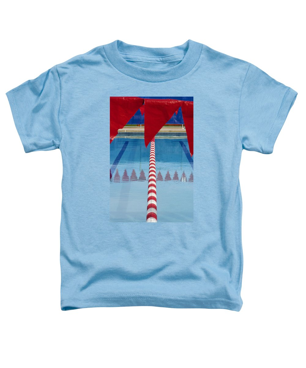 Flag Toddler T-Shirt featuring the photograph Pool by Skip Hunt