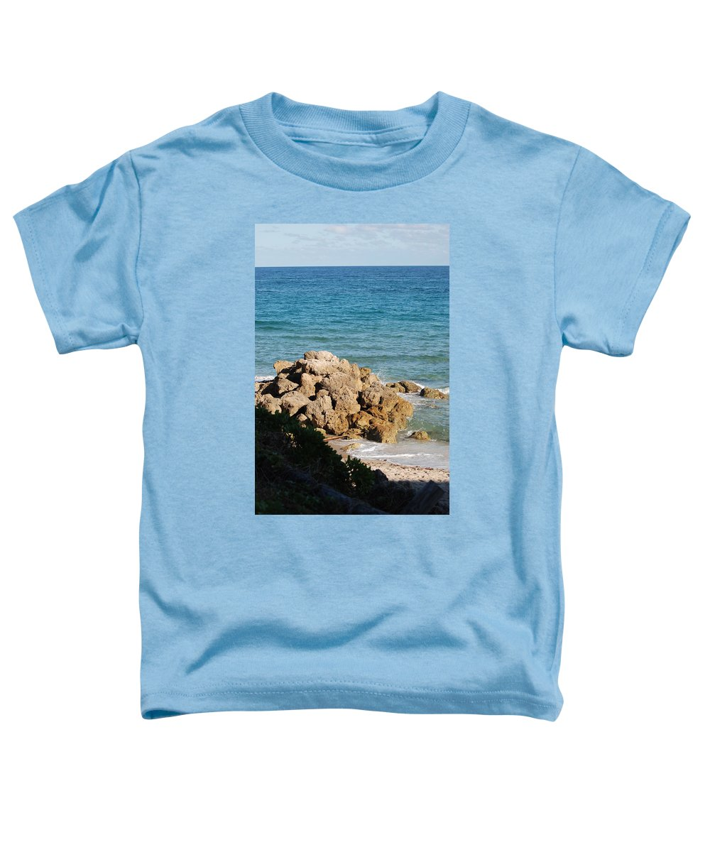 Sea Scape Toddler T-Shirt featuring the photograph Rocky Shoreline by Rob Hans