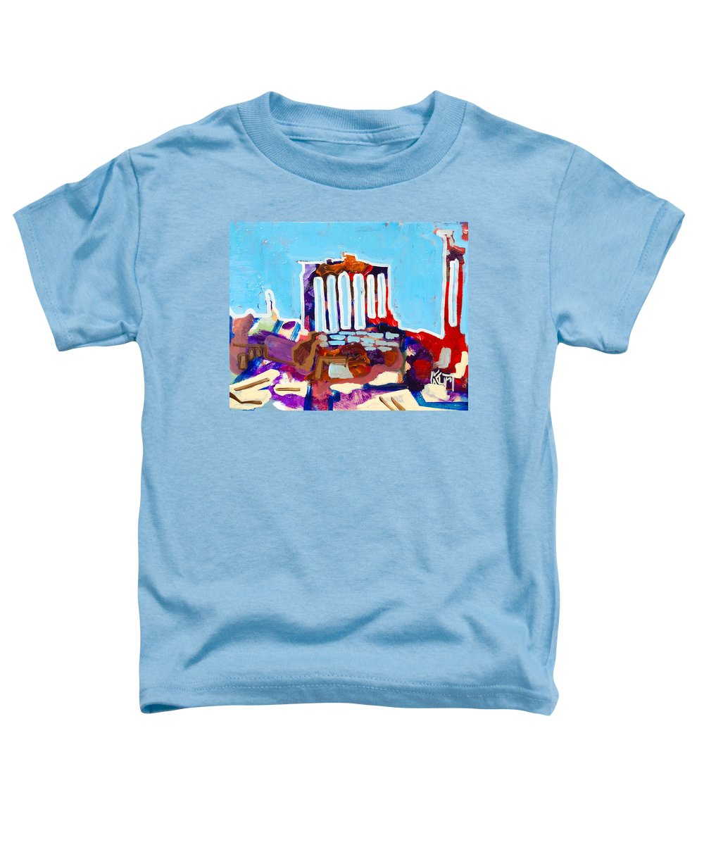 Rome Toddler T-Shirt featuring the painting Rome by Kurt Hausmann