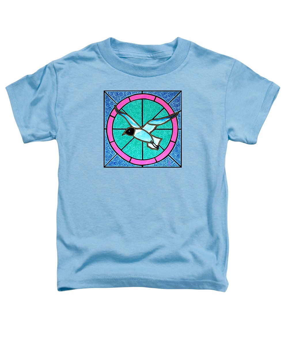 Seagull Toddler T-Shirt featuring the painting Seagull 4 by Jim Harris