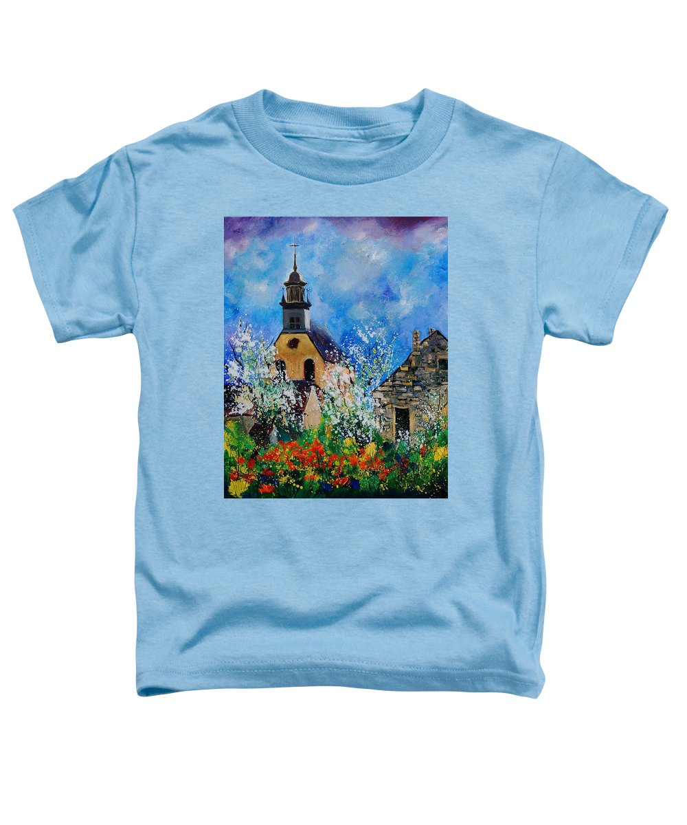 Spring Toddler T-Shirt featuring the painting Spring In Foy Notre Dame Dinant by Pol Ledent