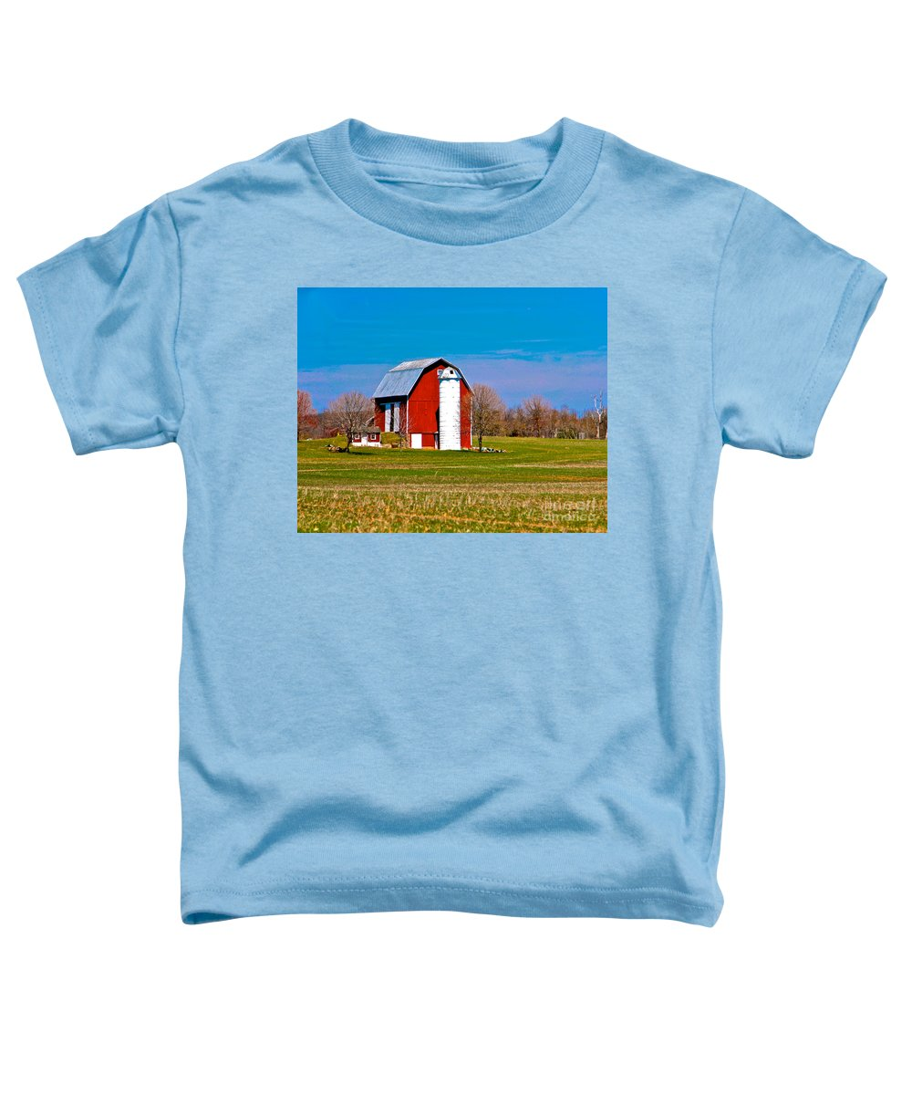 Barn Toddler T-Shirt featuring the photograph Spring Time On The Farm by Robert Pearson