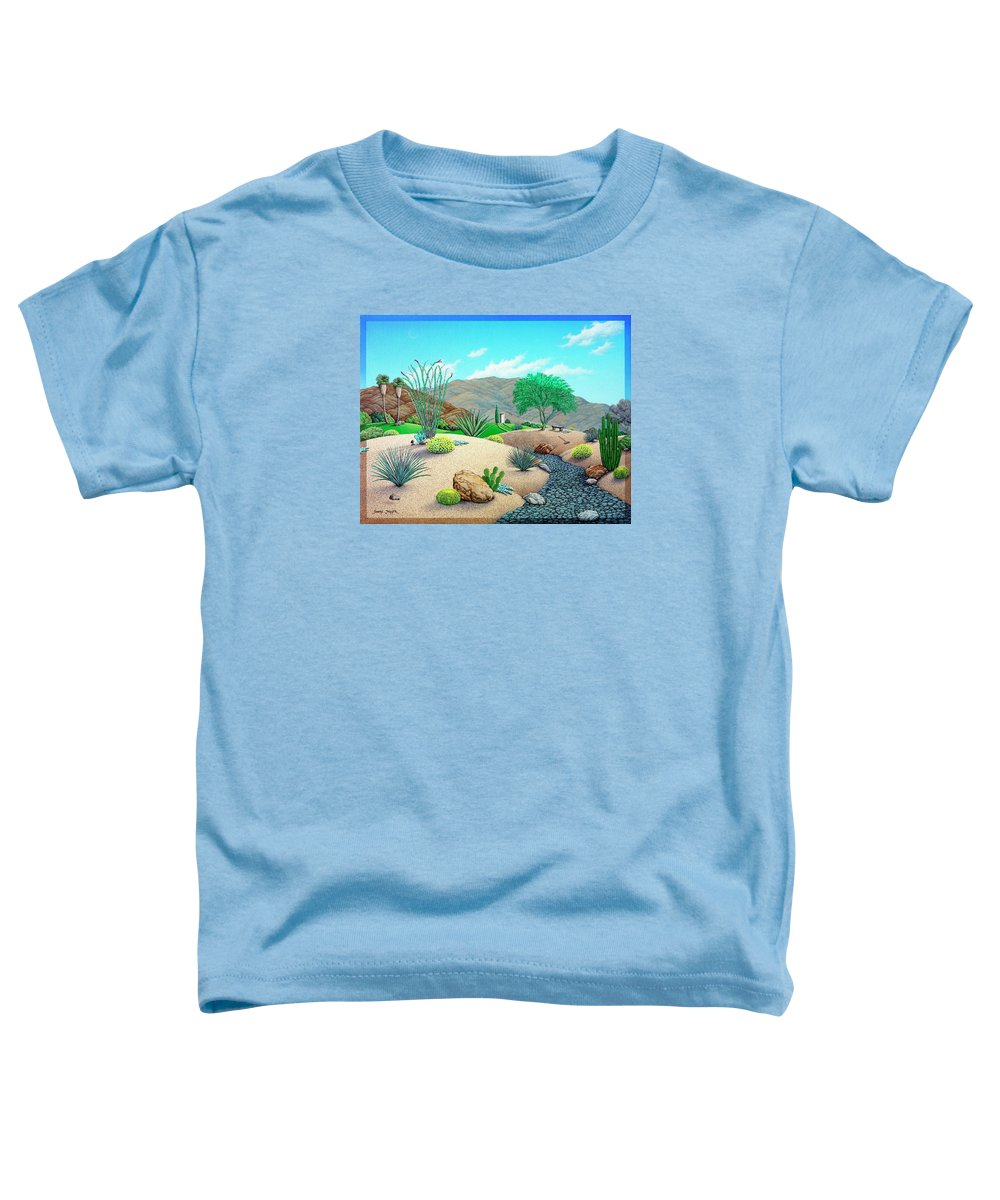 Desert Toddler T-Shirt featuring the painting Steves Yard by Snake Jagger