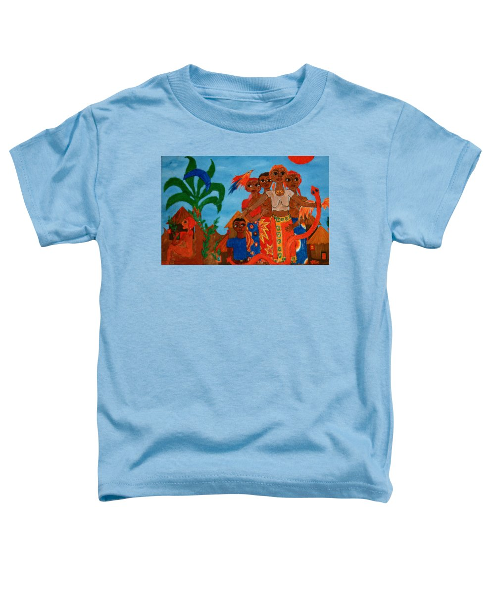 Study Toddler T-Shirt featuring the painting Study To Motherland A Place Of Exile by Madalena Lobao-Tello