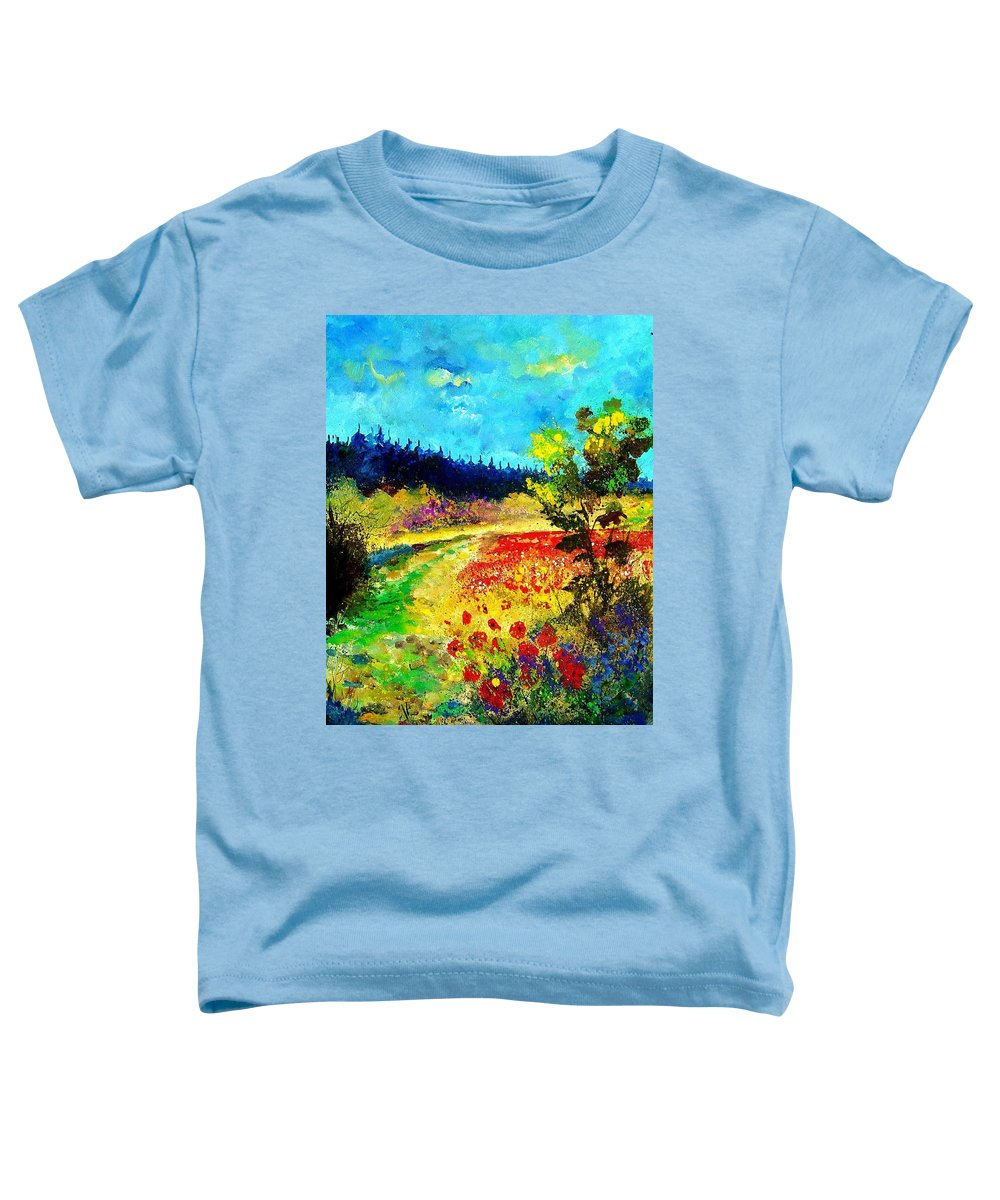 Flowers Toddler T-Shirt featuring the painting Summer by Pol Ledent