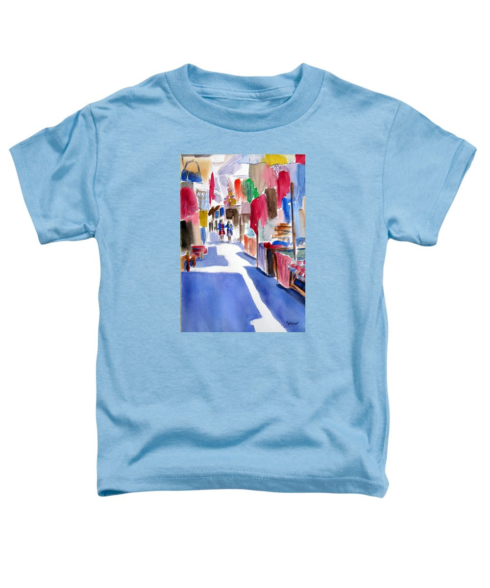 Market Toddler T-Shirt featuring the painting Sunny Day At The Market by Marsha Elliott