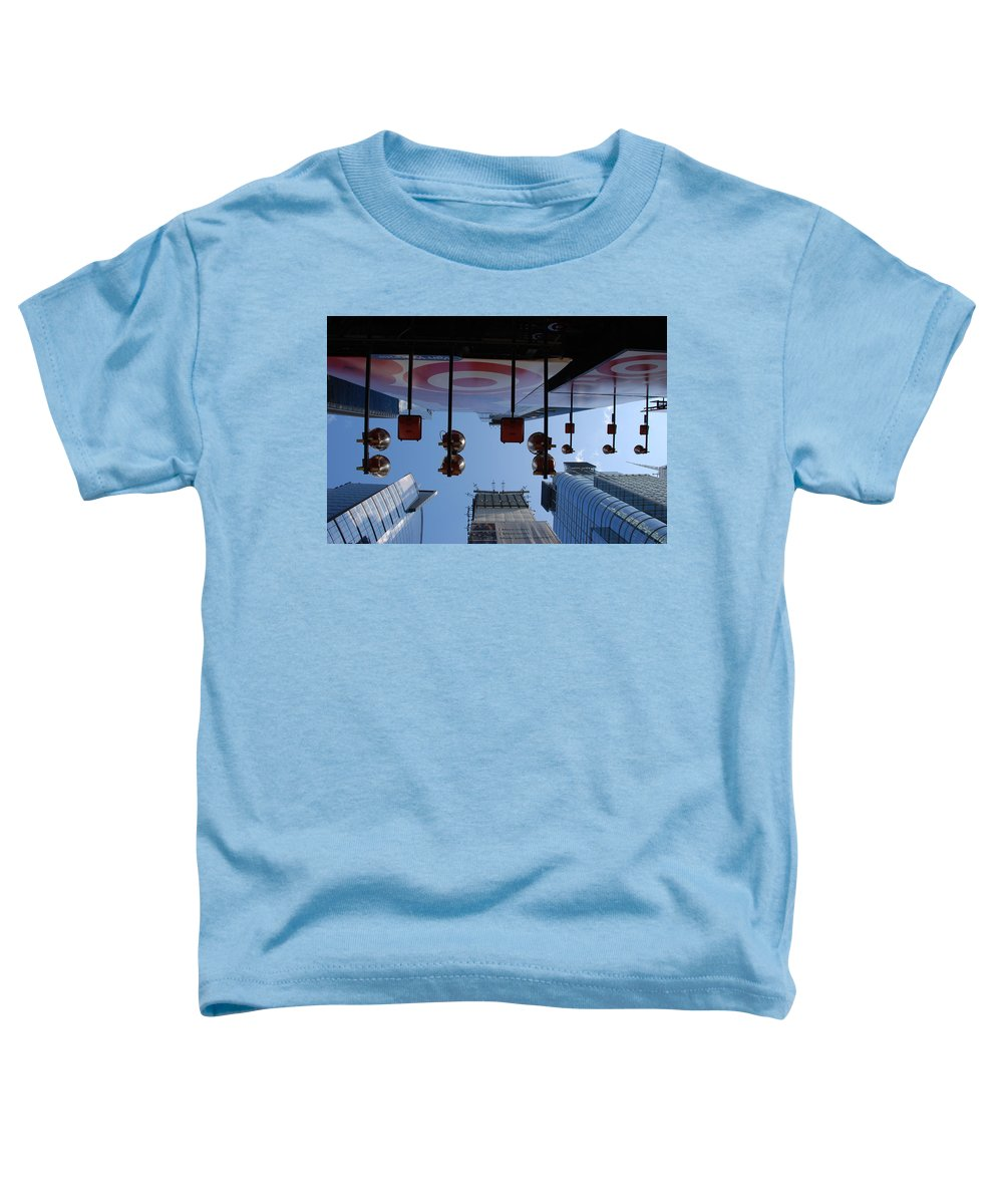 Architecture Toddler T-Shirt featuring the photograph Target Lights by Rob Hans