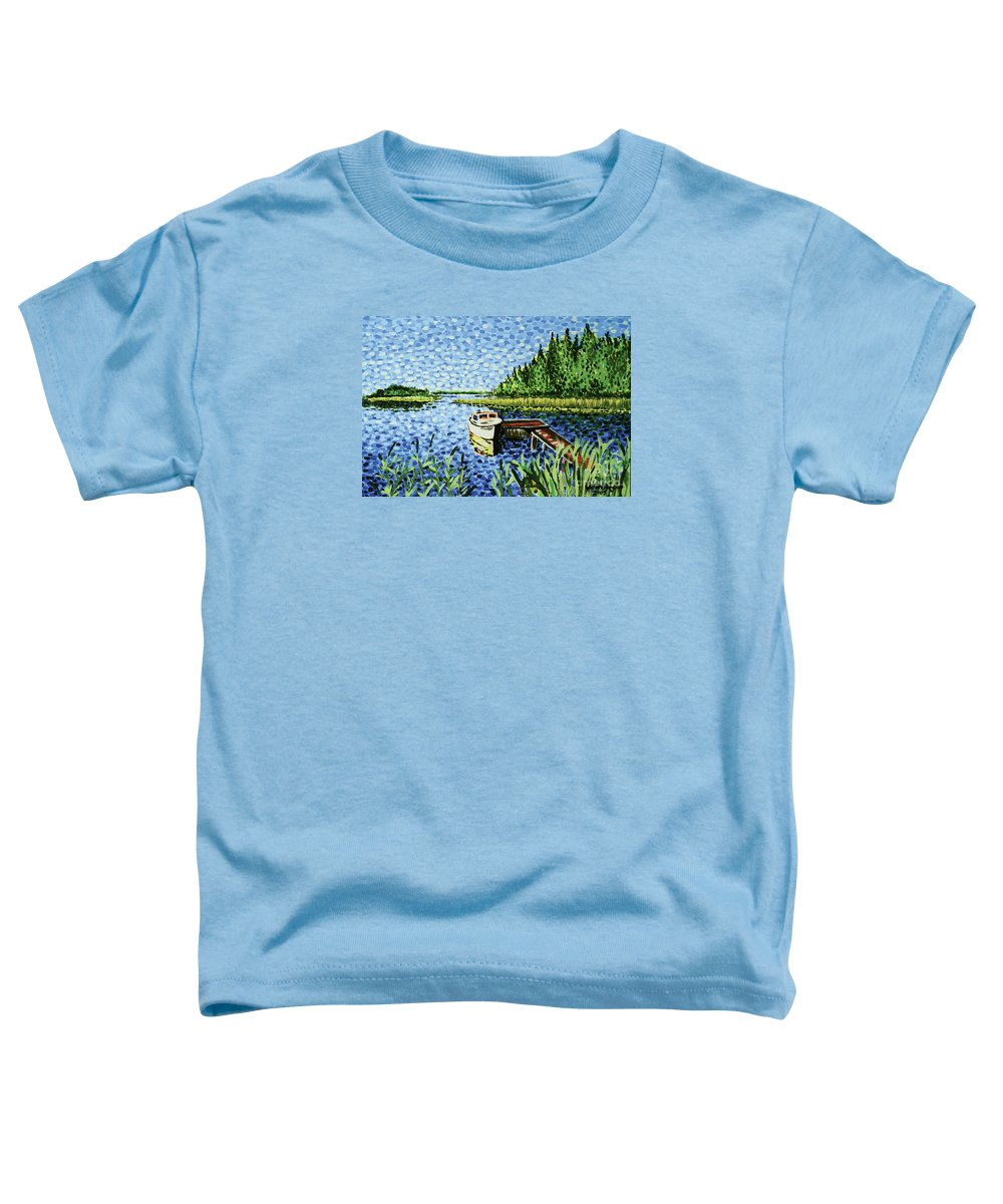 Hogan Toddler T-Shirt featuring the painting The Calypso by Alan Hogan