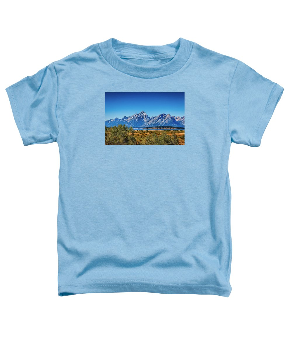 Jackson Toddler T-Shirt featuring the photograph The Grand Tetons by John M Bailey