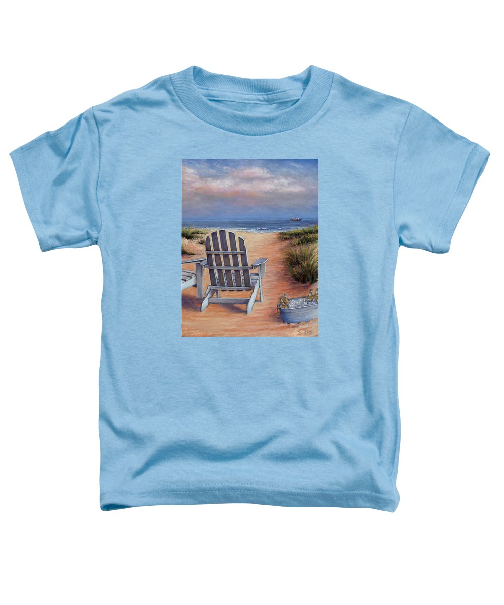 Landscape Toddler T-Shirt featuring the pastel Time To Chill by Susan Jenkins