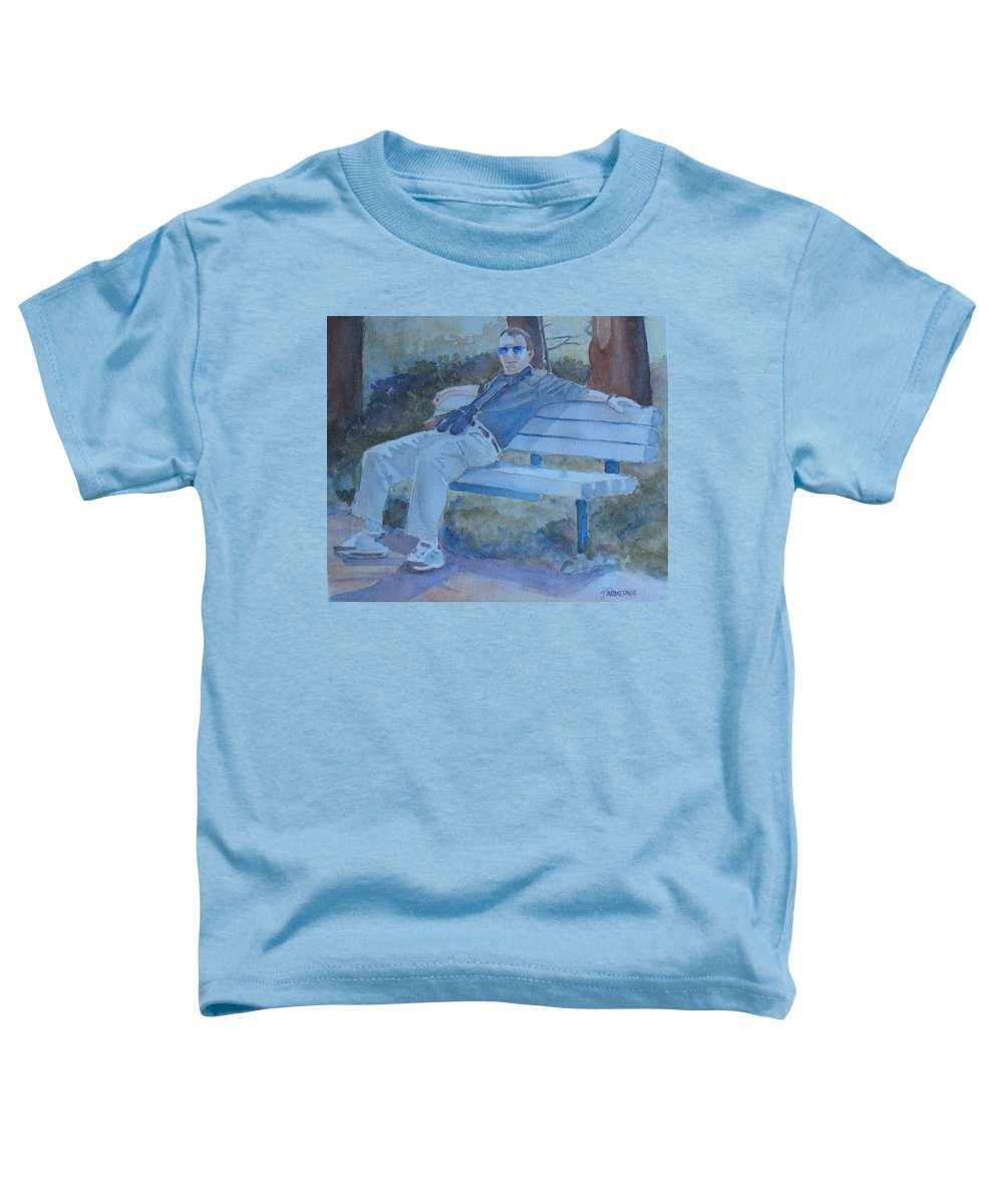 Tourists Toddler T-Shirt featuring the painting Tourist At Rest by Jenny Armitage