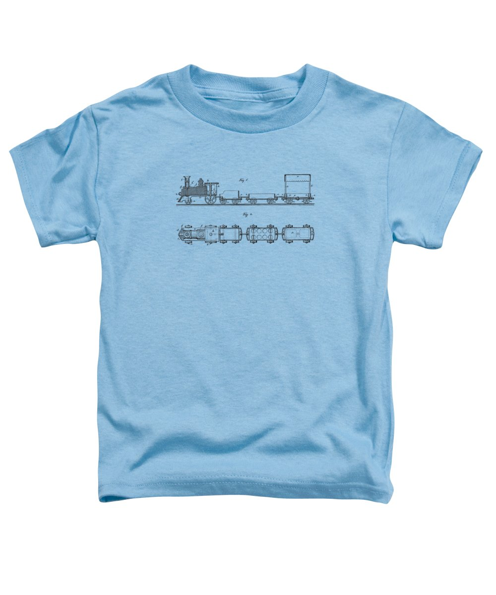 Trains Drawings Toddler T-Shirts
