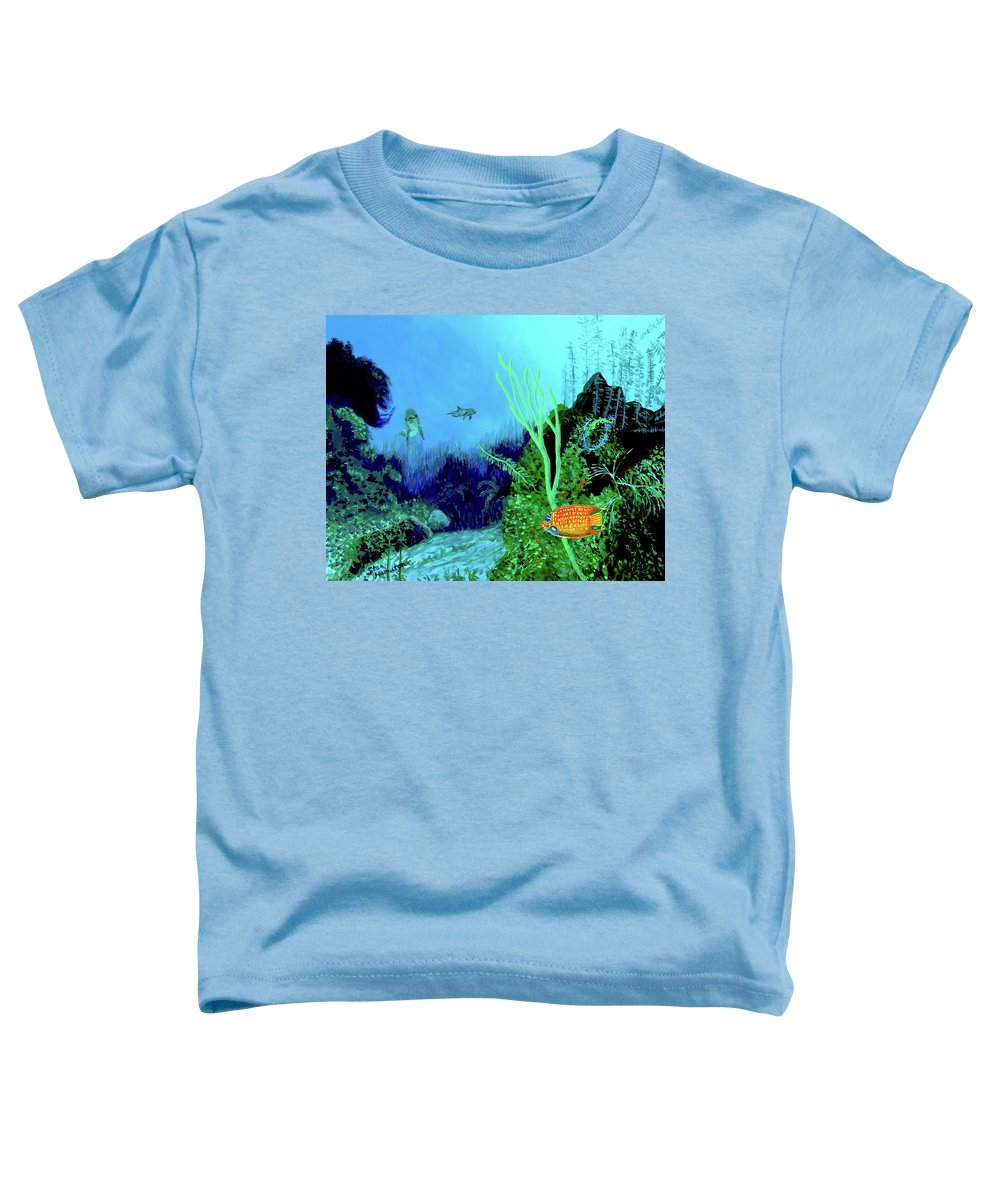 Wildlife Toddler T-Shirt featuring the painting Underwater by Stan Hamilton