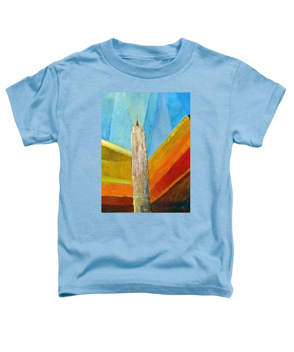 Abstract Cityscape Toddler T-Shirt featuring the painting View From 34th St by Habib Ayat