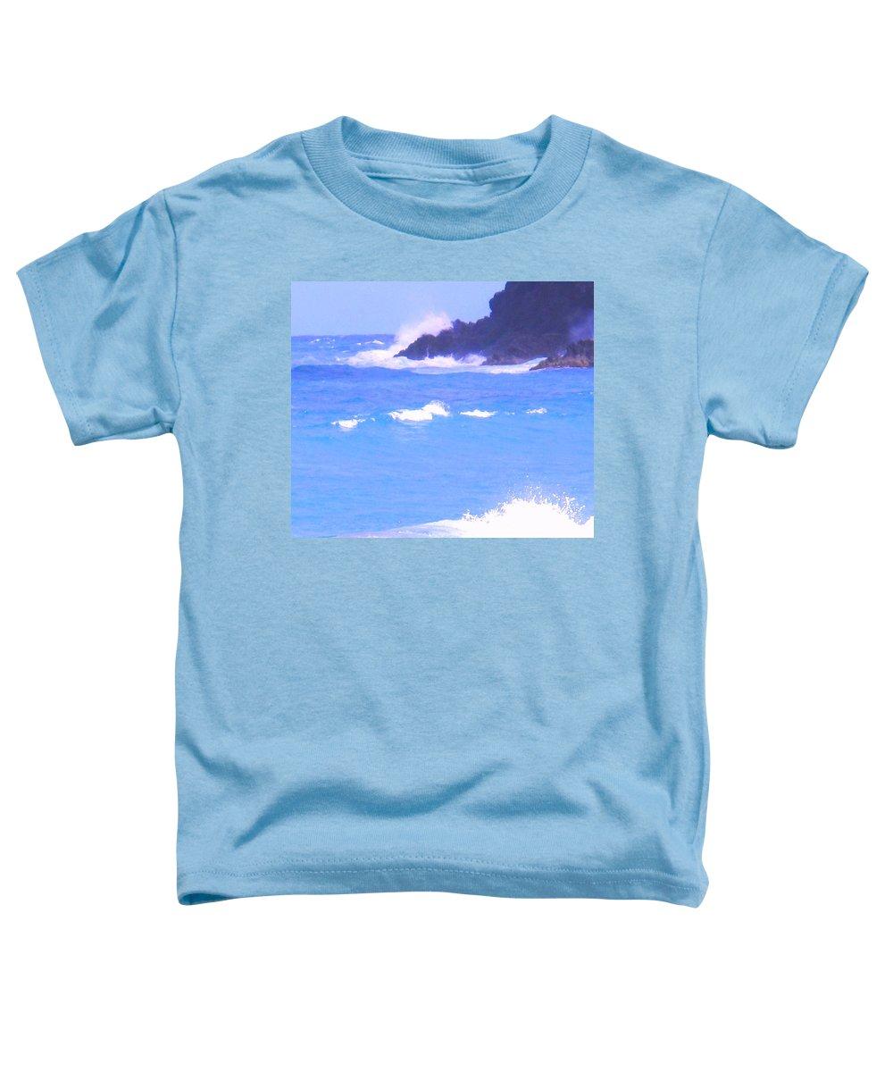 Ocean Toddler T-Shirt featuring the photograph Waves Crashing by Ian MacDonald