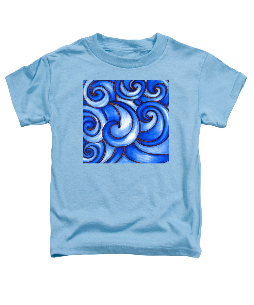 Water Toddler T-Shirt featuring the painting Waves of Mercy by Vonda Drees