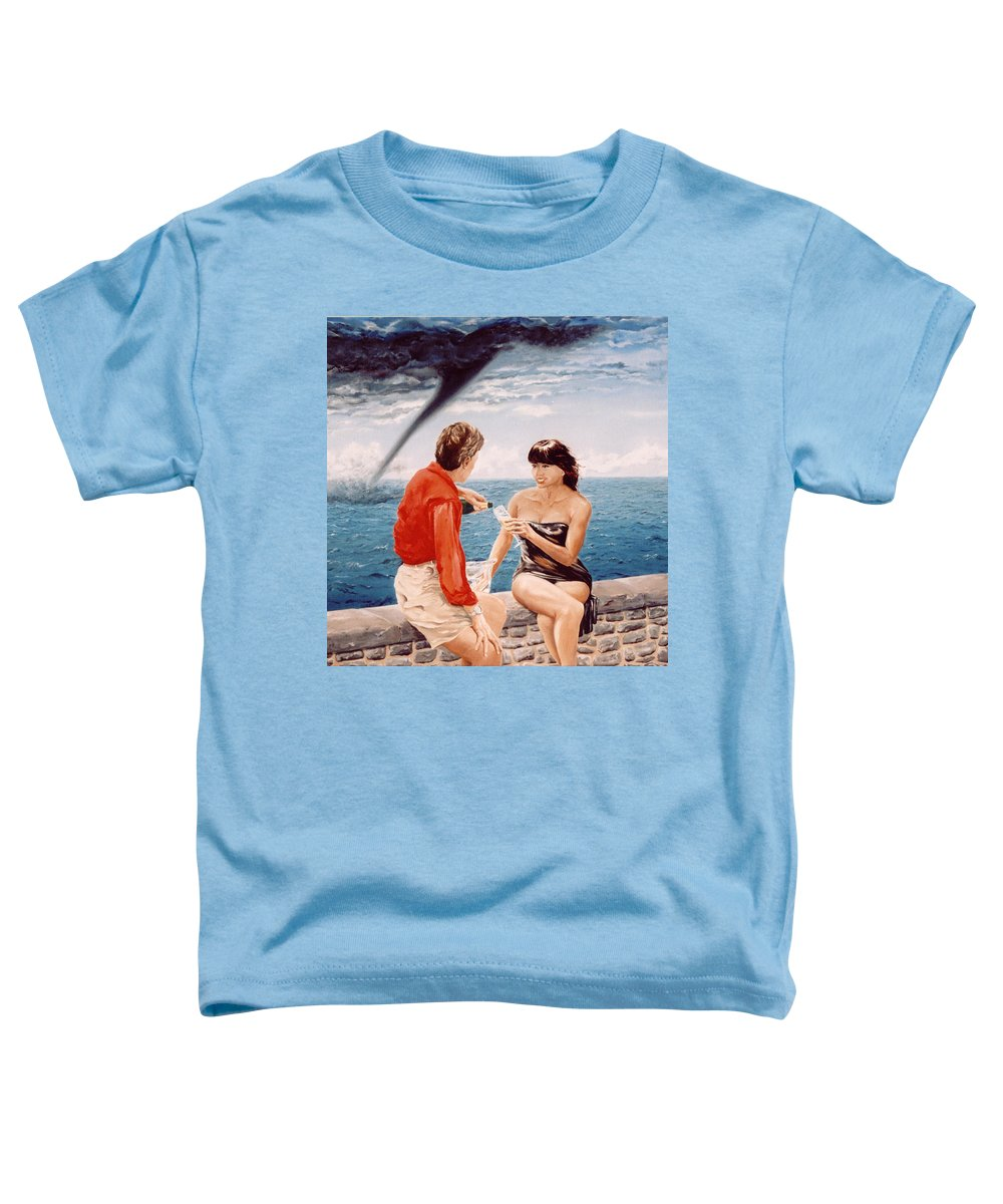 Whirlwind Toddler T-Shirt featuring the painting Whirlwind Romance by Mark Cawood