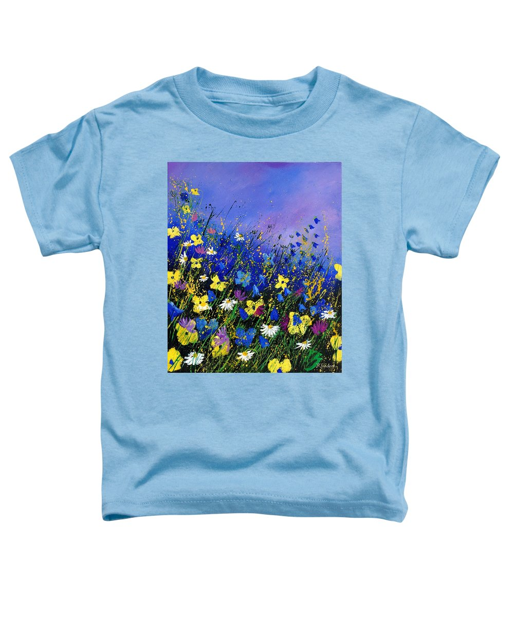 Flowers Toddler T-Shirt featuring the painting Wild Flowers 560908 by Pol Ledent