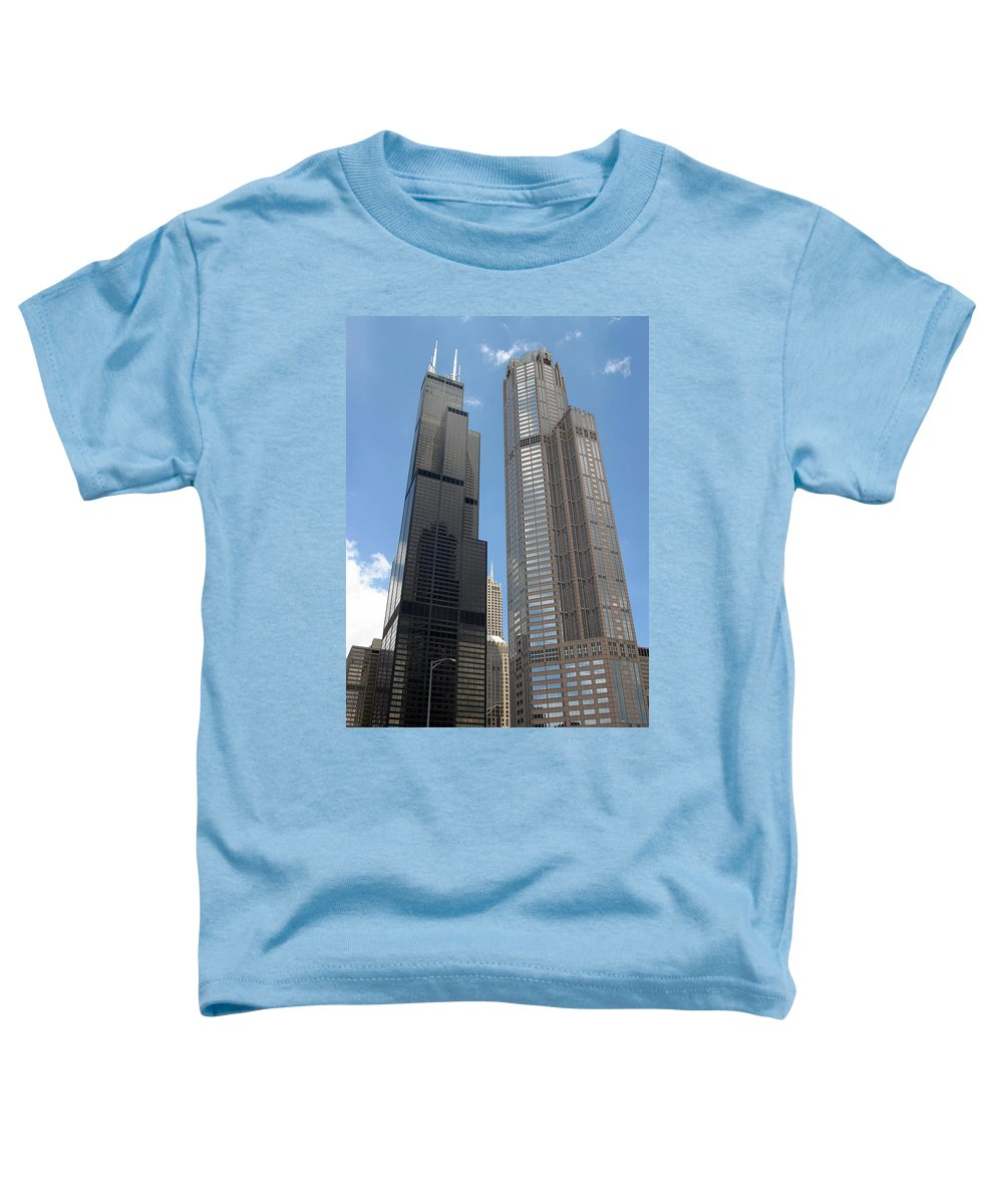 3scape Toddler T-Shirt featuring the photograph Willis Tower Aka Sears Tower And 311 South Wacker Drive by Adam Romanowicz