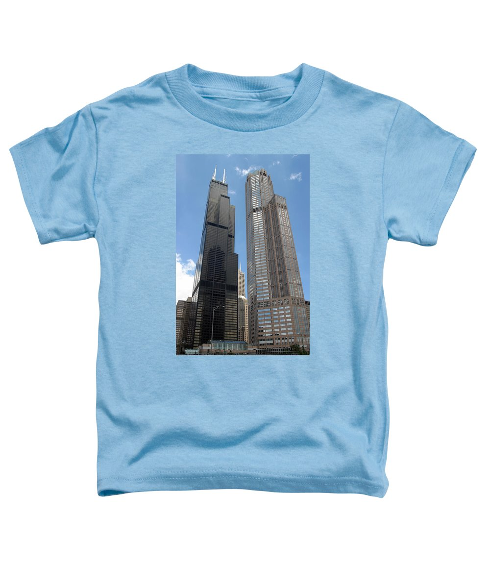 3scape Photos Toddler T-Shirt featuring the photograph Willis Tower Aka Sears Tower And 311 South Wacker Drive by Adam Romanowicz