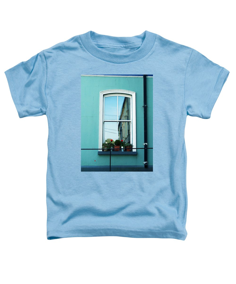 Irish Toddler T-Shirt featuring the photograph Window In Ennistymon Ireland by Teresa Mucha