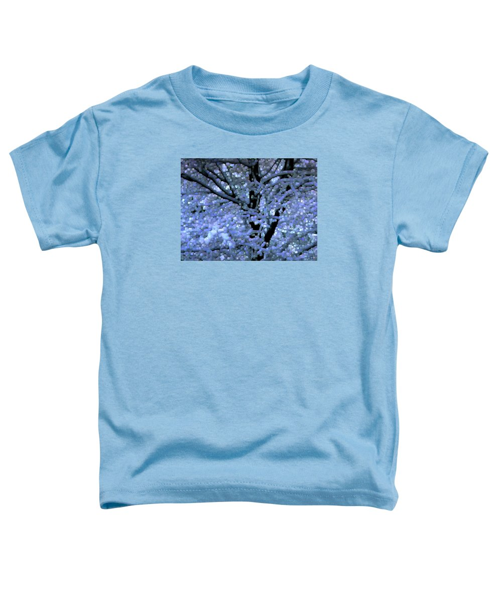 Abstract Toddler T-Shirt featuring the digital art Winter Light by Dave Martsolf