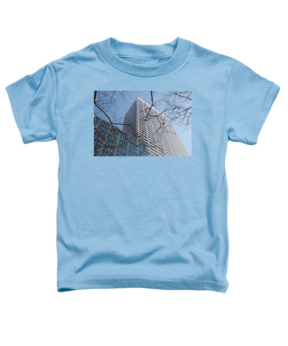 Architecture Toddler T-Shirt featuring the photograph Wood And Glass by Rob Hans