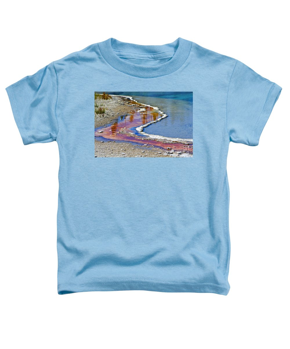 Colorful Toddler T-Shirt featuring the photograph Yellowstone Abstract I by Teresa Zieba
