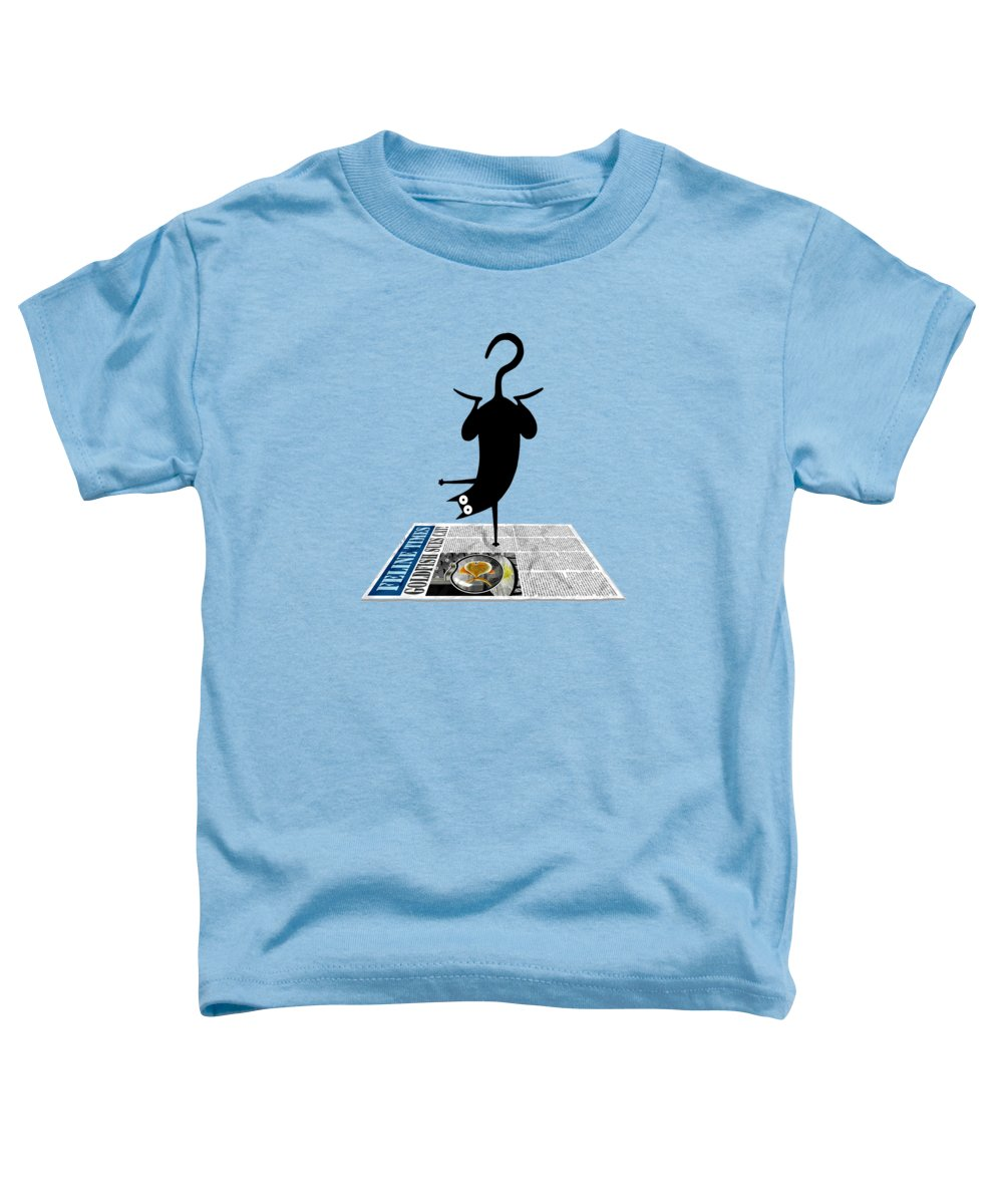Yoga Toddler T-Shirt featuring the drawing Yoga Mat by Andrew Hitchen