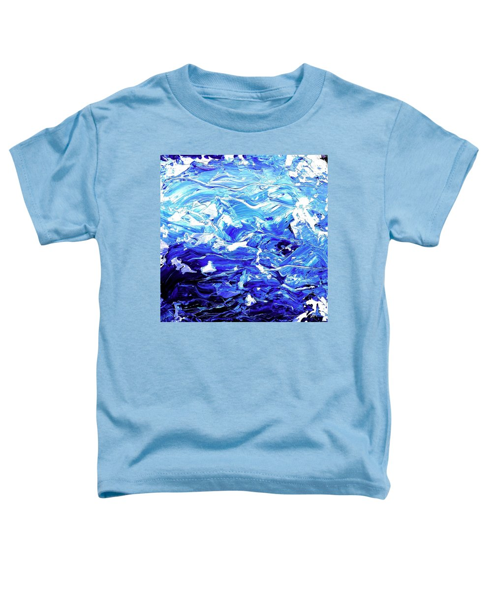 Abstract Toddler T-Shirt featuring the digital art Abstract Map by Linda Mears