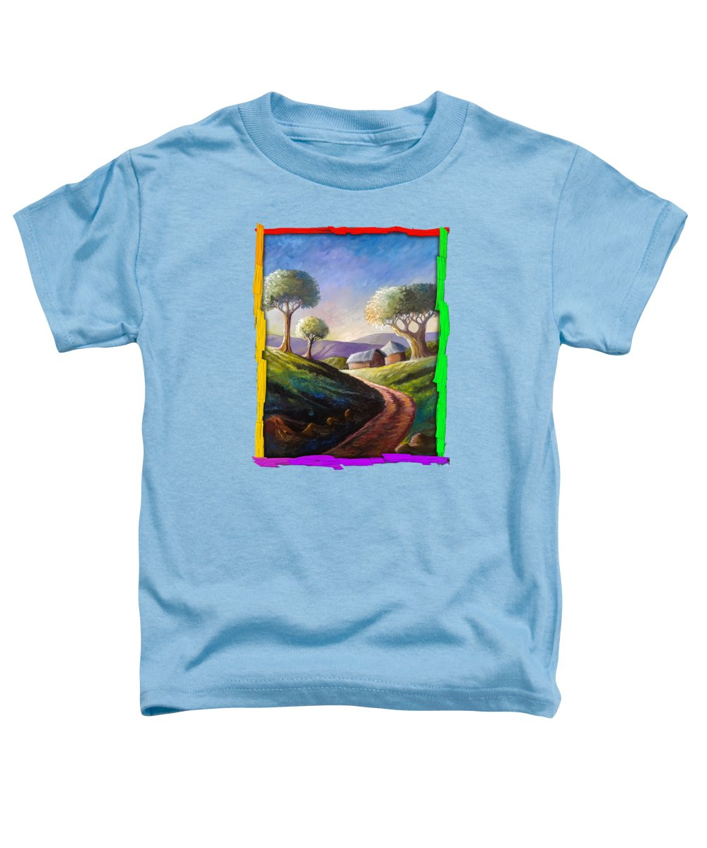 Kenya Toddler T-Shirt featuring the painting A Good Morning by Anthony Mwangi