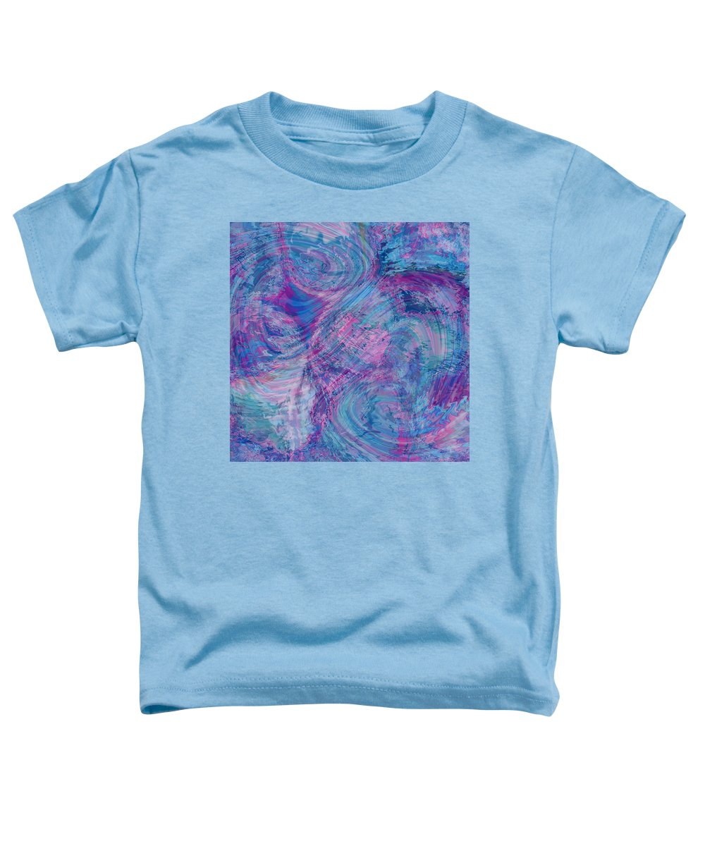 Nonobjective Toddler T-Shirt featuring the digital art Aqueous Meditations #01 by James Fryer