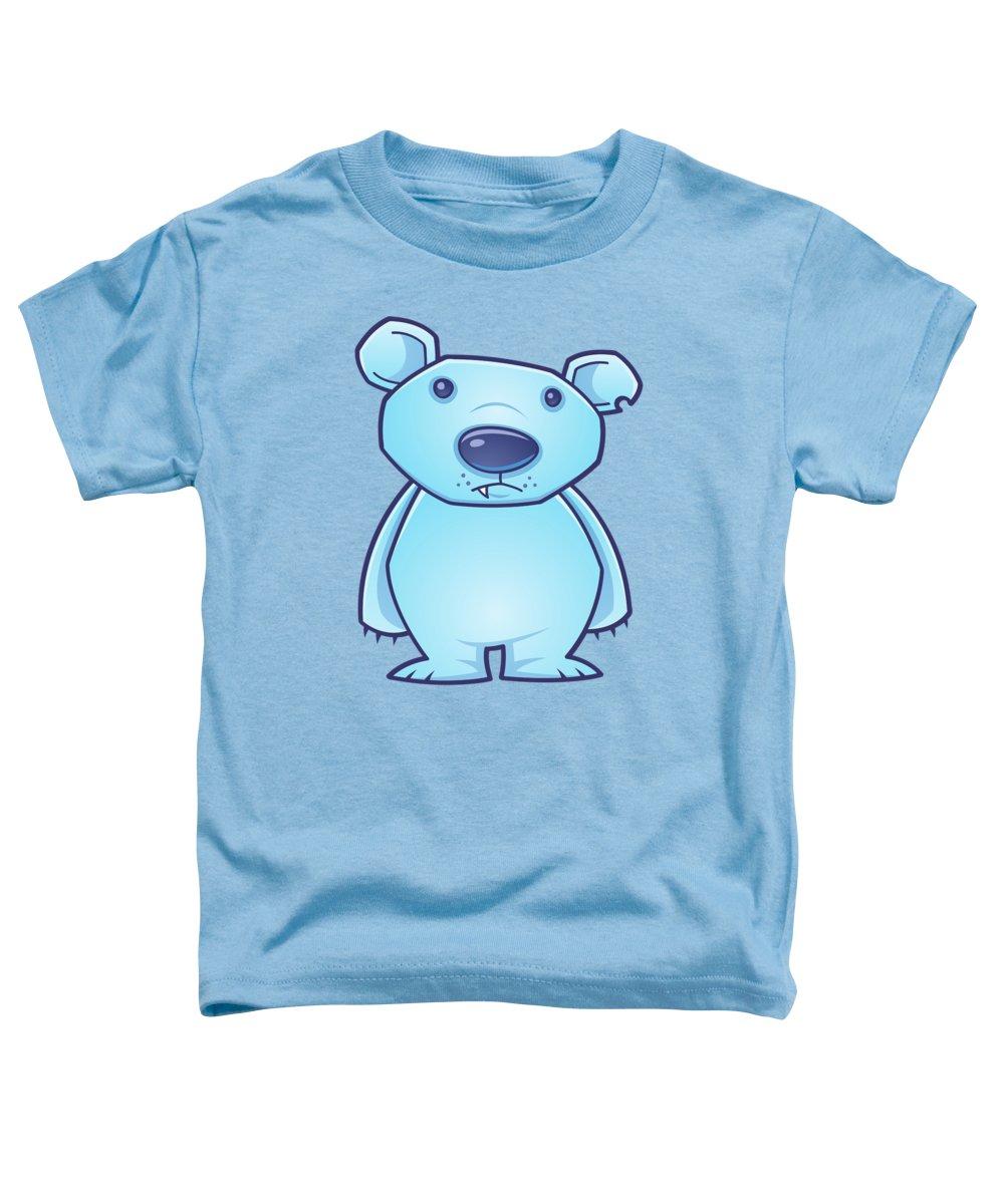 Cold Toddler T-Shirt featuring the digital art Polar Bear Cub by John Schwegel
