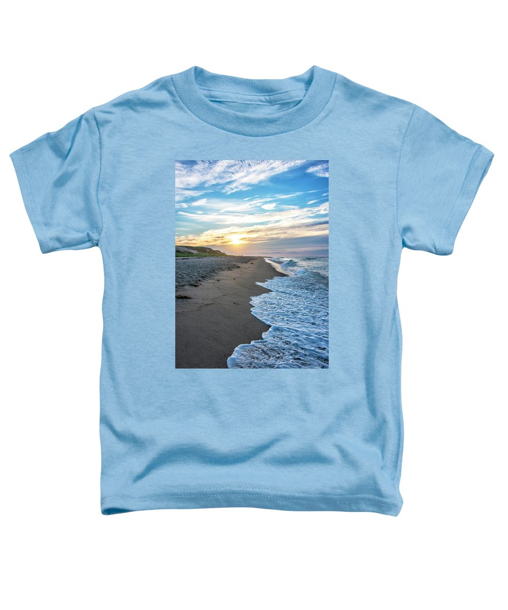 Cape Cod Sunset Toddler T-Shirt featuring the photograph Sunset At Cape Cod National Seashore - Massachusetts by Brendan Reals