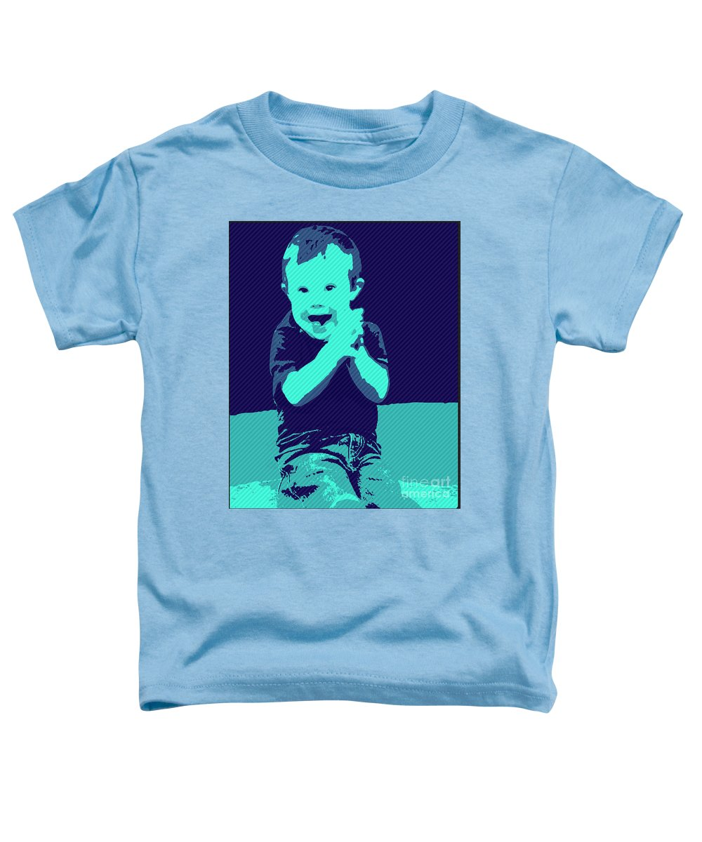 Pray Toddler T-Shirt featuring the painting Happy Prayers by Jack Bunds
