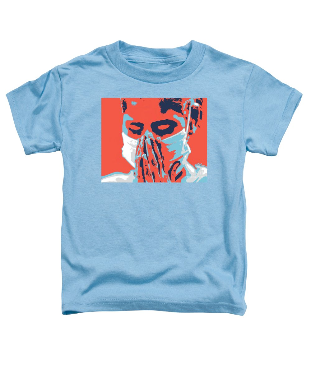 Prayer Toddler T-Shirt featuring the painting Prayers of Innocence by Jack Bunds