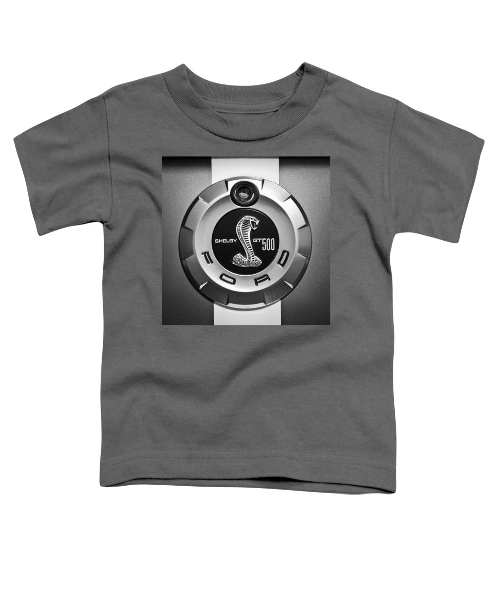 Ford Shelby Gt 500 Cobra Emblem Toddler T-Shirt featuring the photograph Ford Shelby Gt 500 Cobra Emblem by Jill Reger